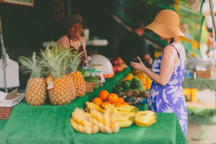 Woman shopping at a local market